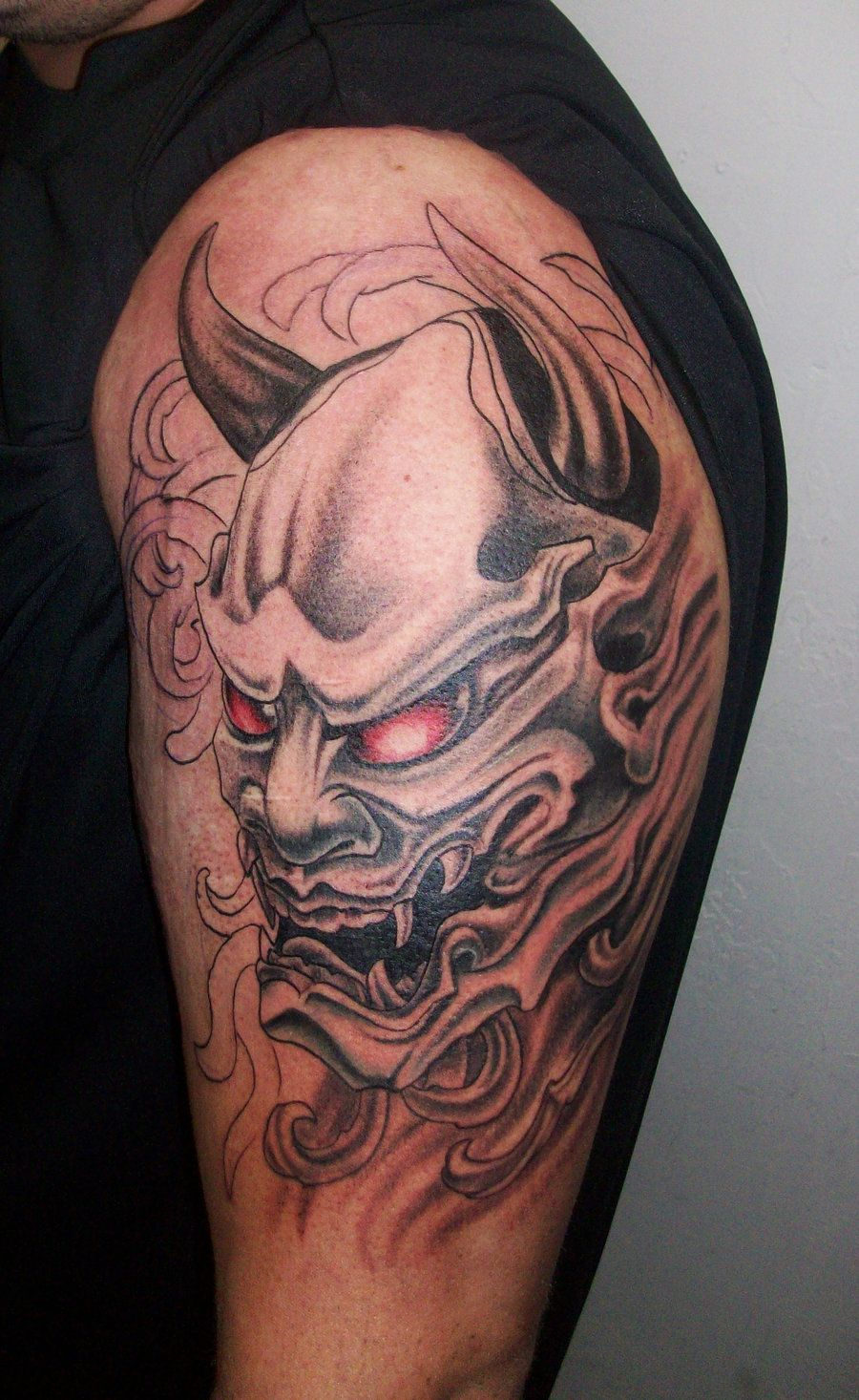 oni mask tattoo